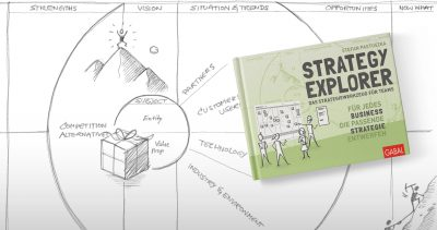 Strategy Explorer Scribble mit Buchcover