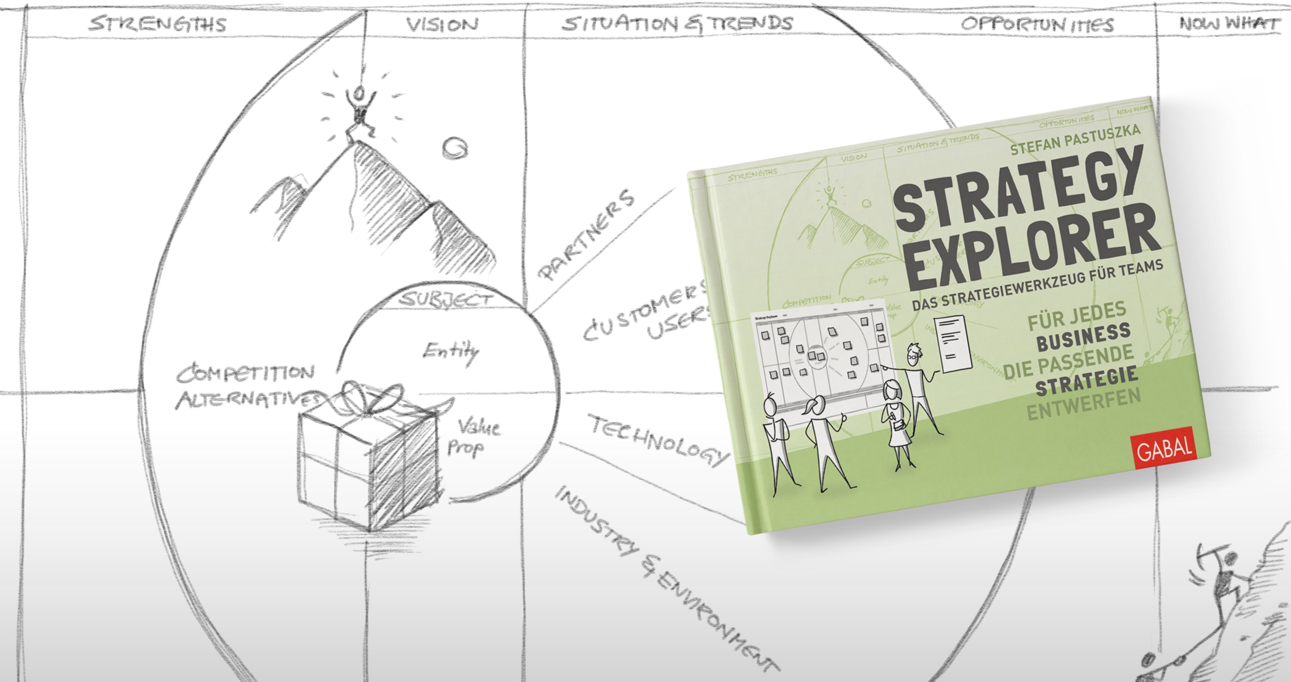 Strategy Explorer Scribble mit Buchcover